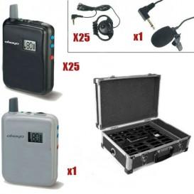 Pack 1 Transmissor WT-300T + 25 Receptores WT-300R