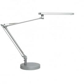 Lâmpada LED de secretária Unilux Mamboled Cinzento metalizado