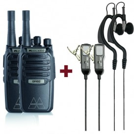 Pack 2 Midland BR-02 com auriculares MA21LKi