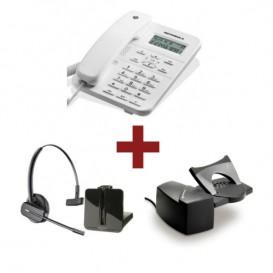 Motorola CT202 Branco + Auricular Plantronics CS540 + Atendedor