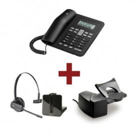 Motorola CT320 + Auricular Plantronics CS540 + Atendedor
