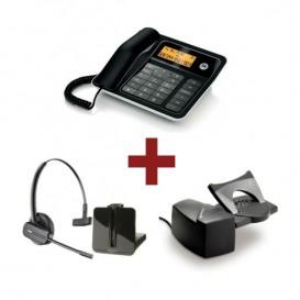 Motorola CT330 + Auricular Plantronics CS540 + Atendedor