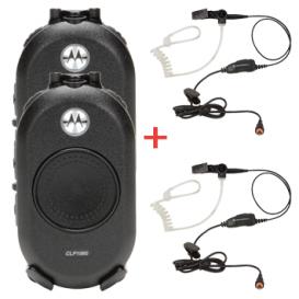 Pack de 2 walkie talkies CLP 446 + 2 auriculares de vigilância