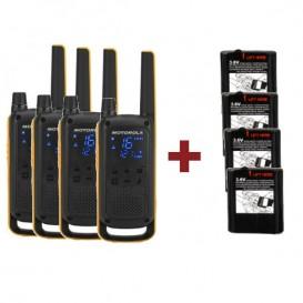 Pack Motorola T82 Extreme Quad + 4 baterias potentes de 1300mAh