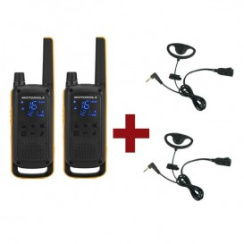 Motorola Talkabout T82 Extreme + 2 Kits Earloop