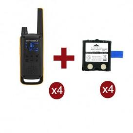 Motorola Talkabout T82 Extreme Quarteto + 4 baterias de substituição