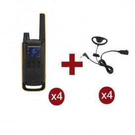 Motorola Talkabout T82 Extreme Quarteto + 4 Kits Earloop