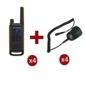 Motorola Talkabout T82 Extreme Quarteto + 4 Microfones de lapela