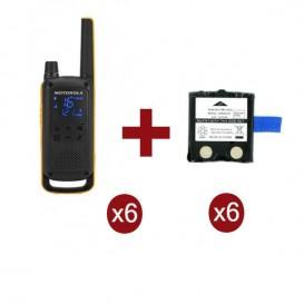 Motorola Talkabout T82 Extreme Sexteto + 6 baterias de substituição