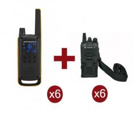 Motorola Talkabout T82 Extreme Sexteto + 6 bolsas de proteção (