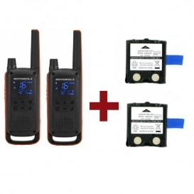Motorola Talkabout T82 + 2 baterias de substituição
