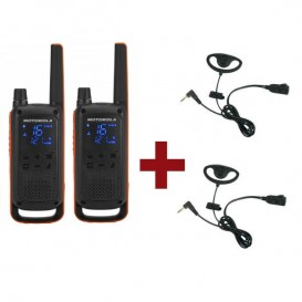 Motorola Talkabout T82 + 2 Kits Earloop