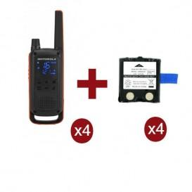 Motorola Talkabout T82 Quarteto + 4 baterias de subsittuição