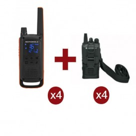Motorola Talkabout T82 Quarteto + 4 boslas de proteção