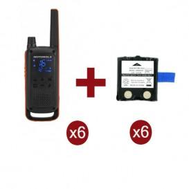 Motorola Talkabout T82 Sexteto + 6 Baterias de substituição