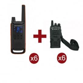 Motorola Talkabout T82 Sexteto + 6 bolsas de proteção