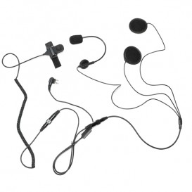 Microfone-auricular para capacete compatível Motorola 2 pins