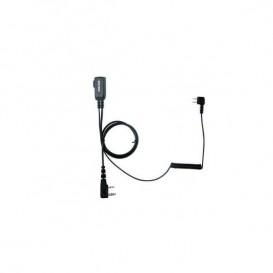 Cabo PTT para Peltor SportTac PTT32 para walkies Kenwood com conector PTT32K
