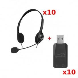 PACK 10: Speedlink Accordo: duplo Jack / USB