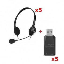 PACK 5: Speedlink Accordo: duplo Jack / USB