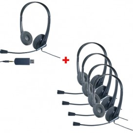 Pack 5 auriculares Cleyver HC35