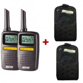 Pack de Walkie talkie CPS CP225 + 2 bolsas DYNAF010