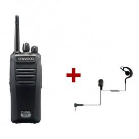 Kenwood Protalk TK-3401D + Auricular gancho para Kenwood