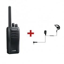 Kenwood Protalk TK-3501 + Auricular gancho para Kenwood
