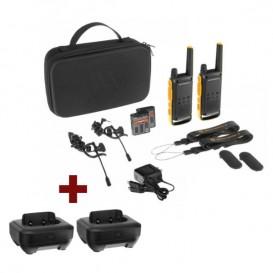Pack Motorola TLKR T82 Extreme + 2 bases carregadoras