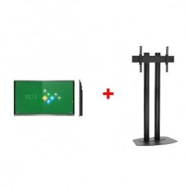 """Ecrã interativo VSeven de 75"""" com Kit de suporte"""