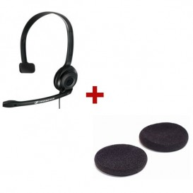 Sennheiser PC 2 Chat com almofadas