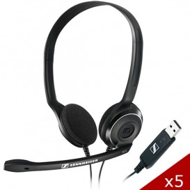 Pack 5 Sennheiser PC 8 USB