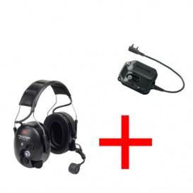 Peltor Pro-Tac II WS + Adaptador Bluetooth Peltor para Kenwood