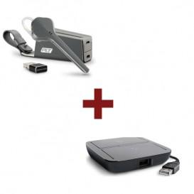 Auricular Plantronics Voyager 3200 UC + Comutador Plantronics MDA220 USB