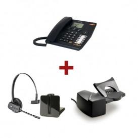 Alcatel Temporis 880 + Auricular Plantronics CS540 + Atendedor