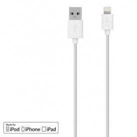 Cabo de carga USB a Lightning 1.2 m branco