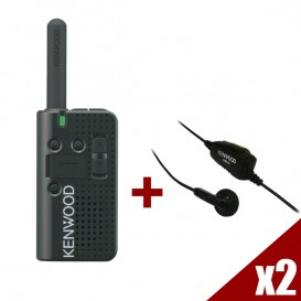 Walkie Talkie Kenwood PKT-23E (2 unidades) + 2 kits KHS33