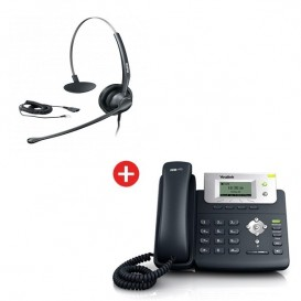 Yealink T21P + auricular Yealink HS33