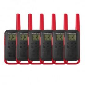 Pack sexteto Motorola Talkabout T62 - Vermelho