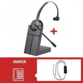 Pack auricular Cleyver HW20 para telefone Avaya