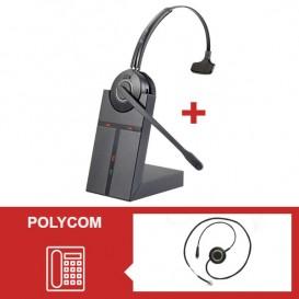 Pack auricular Cleyver HW20 para telefone Polycom