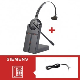 Pack auricular Cleyver HW20 para telefone Siemens - Segunda versão