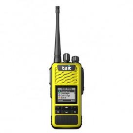 Capa Frontal com ecrã e 4 teclas para TAIT TP3300 - Amarelo