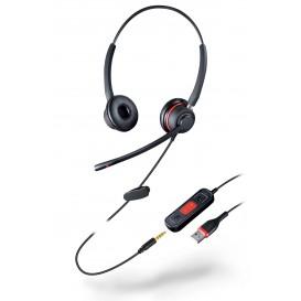 Auricular Duo com Dupla conexão USB / Jack