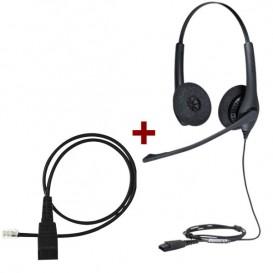 Jabra BIZ 1500 Duo com cabo de conexão 8800-00-01