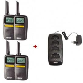 Pack de 4 walkie talkies CPS225 + 1 carregador múltiplo