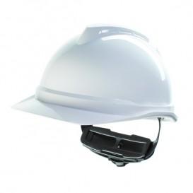 Capacete MSA V-Gard 500 com ventilação e fecho Fas Trac III - Branco