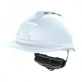 Capacete MSA V-Gard 500 com ventilação e porta cartões - Branco