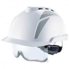 Capacete MSA V-Gard 930 - com ventilação e com óculos integrados - Branco