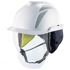 Capacete MSA V-Gard 950 - sem ventilação e com visor facial - Branco
